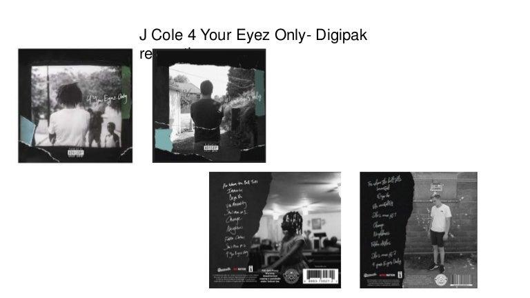 J Cole 4 Your Eyez Only Digipak