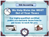 We Help Make The Most Out Of Your Taxes | GLG Accounting