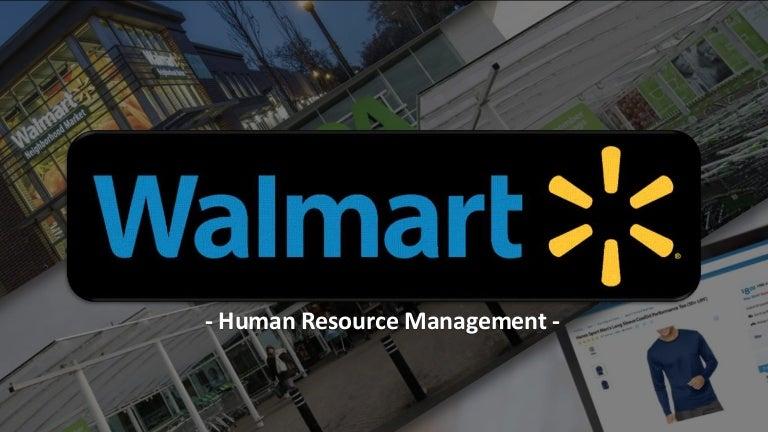 WALMART HUMAN RESOURCE MANAGEMENT
