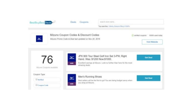 Mizuno Coupons 22% Off On Black Friday 2018