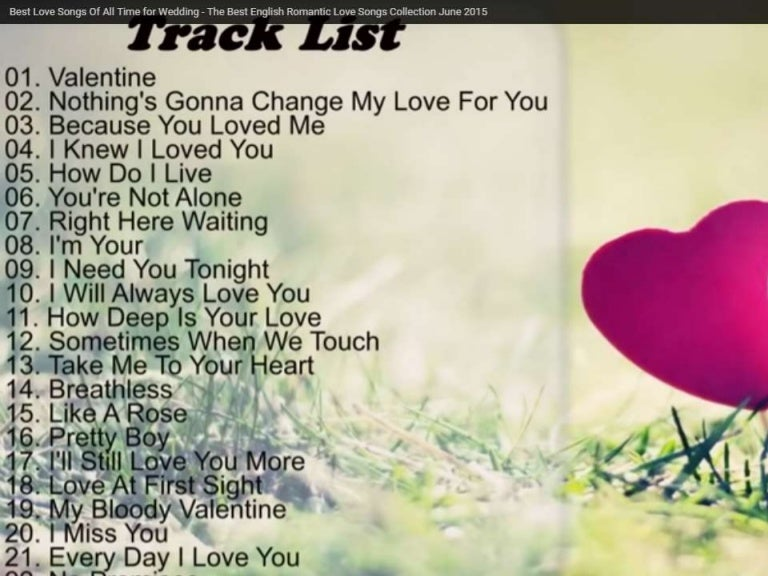 Best love songs of all time list
