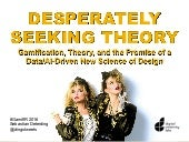 Desperately Seeking Theory: Gamification, Theory, and the Promise of a Data/AI-Driven New Science of Design