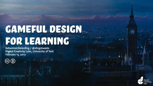 Gameful Design for Learning