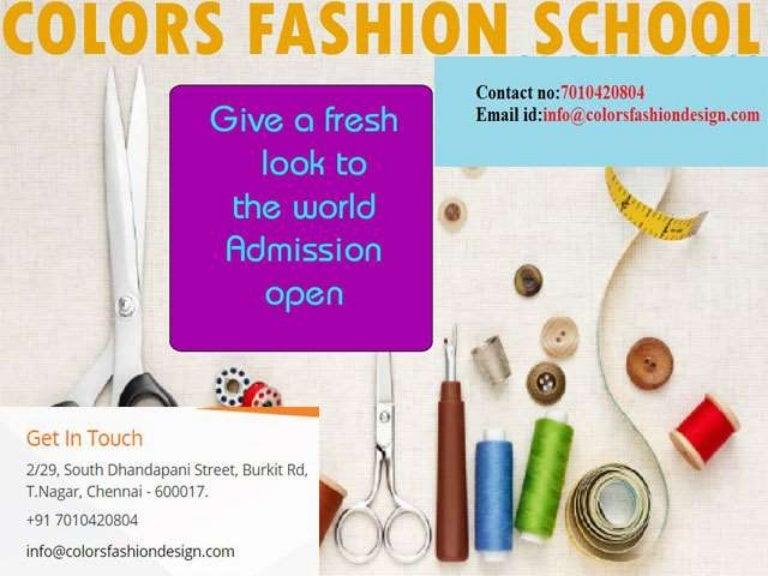 Fashion Designing Institute In Chennai
