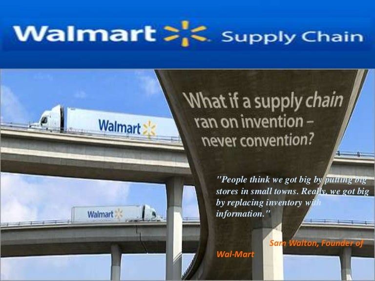 supply chain management walmart supply chain management