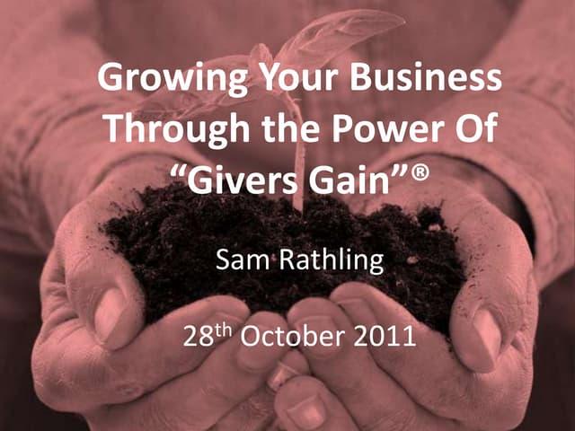 Presentation 28th october 2011 (london members day)