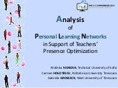 Analysis of Personal Learning Networks in Support of Teachers Presence Optimization