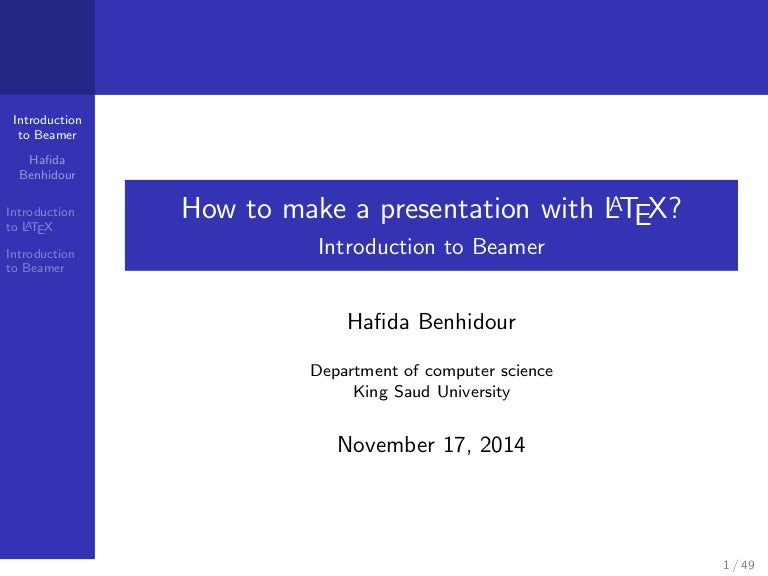 how to make a presentation with latex? introduction to beamerpresenta…, Presentation templates