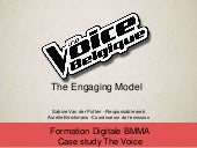 Presentation bmma    the voice case study
