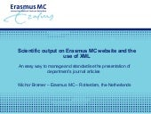 Scientific output on Erasmus MC website and the use of XML