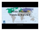 Presentation by freedom house's karin deutsch karlekar on media freedom   21-02-13