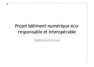 Présentation Corinne Blanc Optireno - projet BNEI