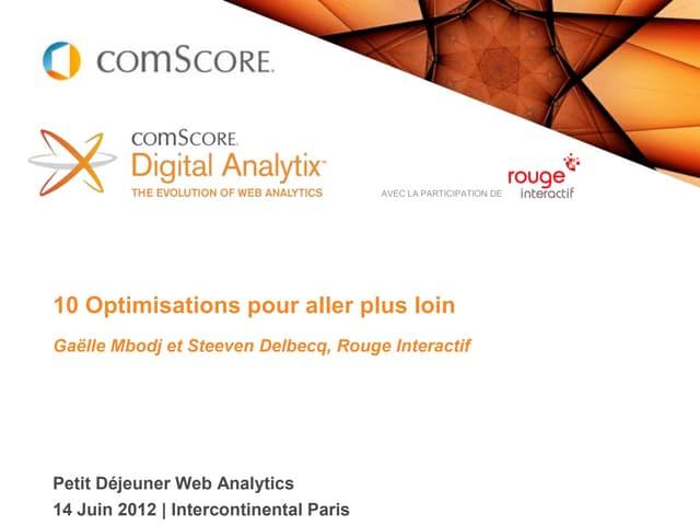 ComScore / Rouge Interactif : 10 optimisations pour aller plus loin