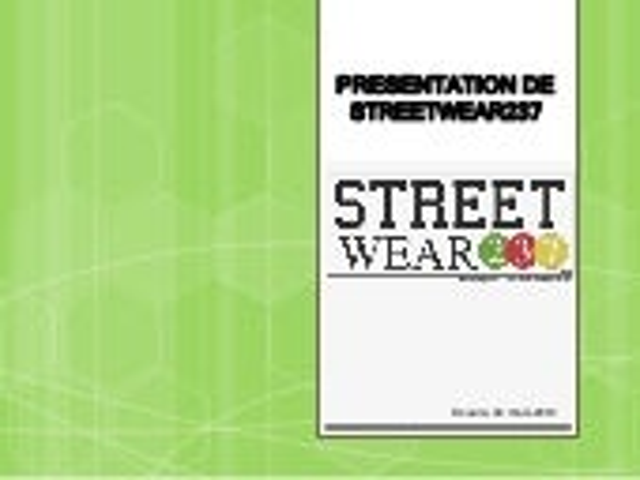 Presentation de streetwear237 - #DigitalThursday  #Edition9
