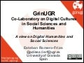 GrinUGR - A view on Digital Humanities and Social Sciences