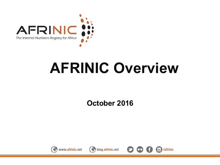 Future Sat Africa - AFRINIC Overview