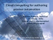 Cloud computing for authoring process automation