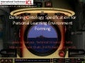 Defining Ontology Specification for Personal Learning Environment Forming