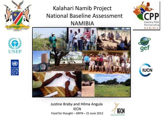 Kalahari Namib Project Namibia Basin - enhancing sustainable land management through inter-active learning and sharing