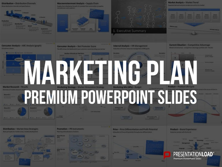 marketing plan ppt slide template, Modern powerpoint