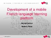 Development of a mobile French language learning platform