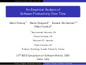 An Empirical Analysis of Software Productivity Over Time
