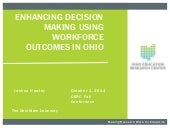 Enhancing Decision Making Using Workforce Outcomes in Ohio