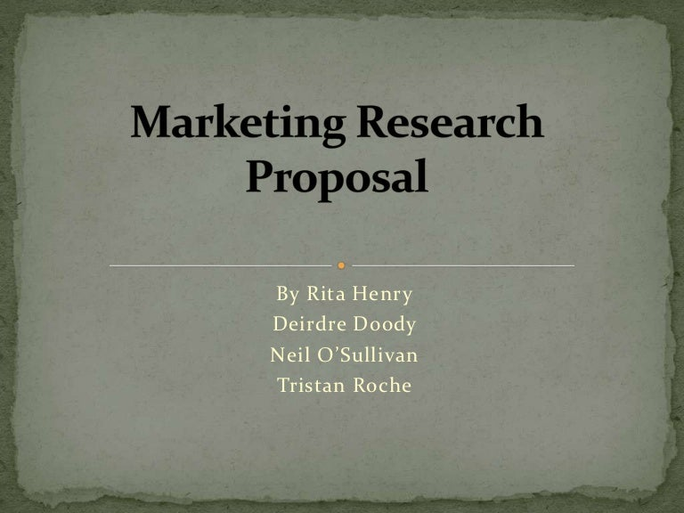 Presentation of marketing research proposal