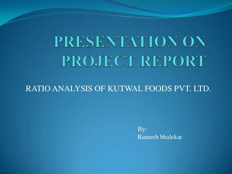 project report presentation
