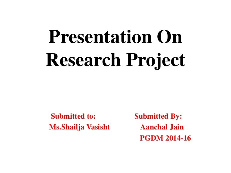 Presentation on research project