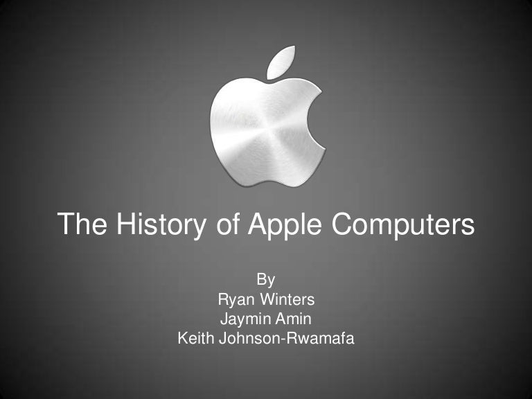 presentation on the history of apple computers