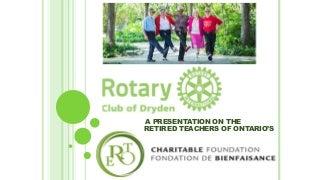 Presentation on the rto ero charitable foundation