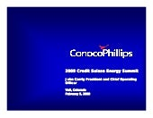 Conco Phillips- Presentations & Conference Calls Credit Suisse Energy Summit