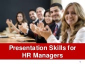 Presentation skills for hr managers