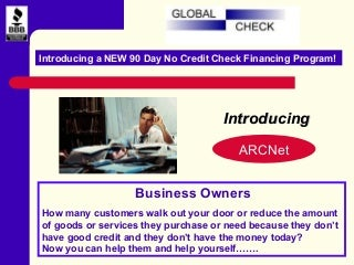 90-Day No Credit Check Financing Program