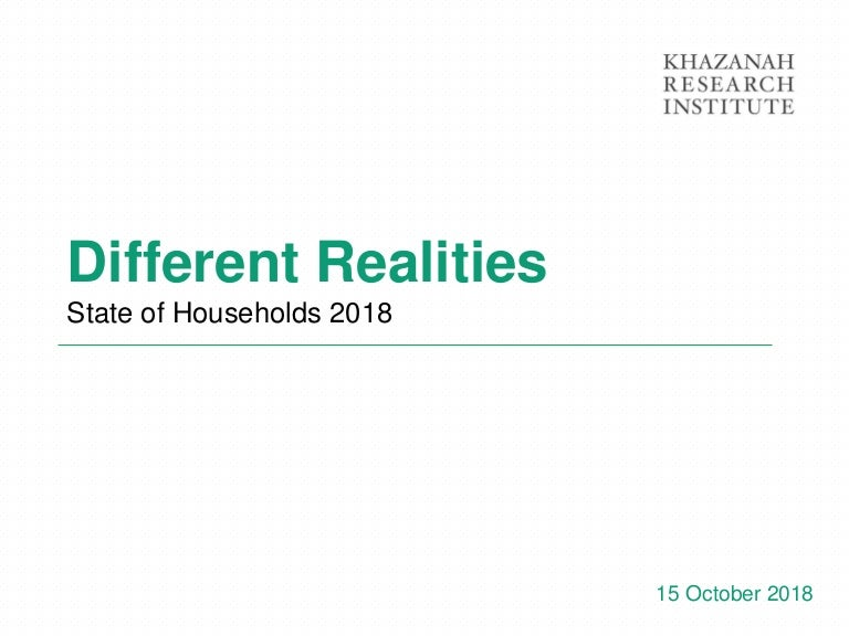 The State of Households 2018 - Different Realities