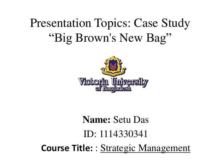 Presentation topics er