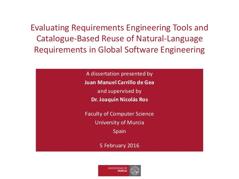 thesis requirements engineering
