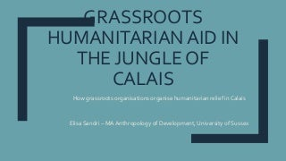 Grassroots Humanitarian Aid in the Informal Refugee Camp of Calais