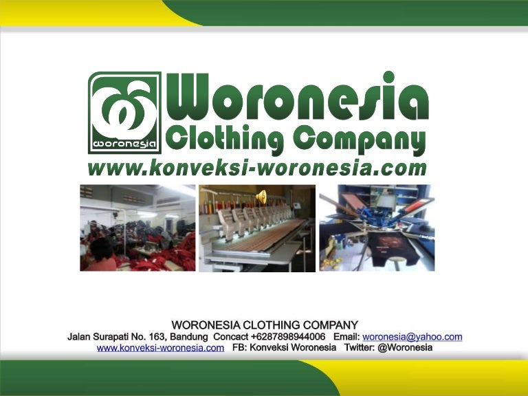Company Profile Konveksi Woronesia