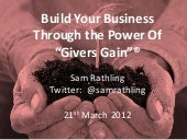 """""""Build Your Business Through Giver's Gain"""" - BNI Yorkshire Region"""