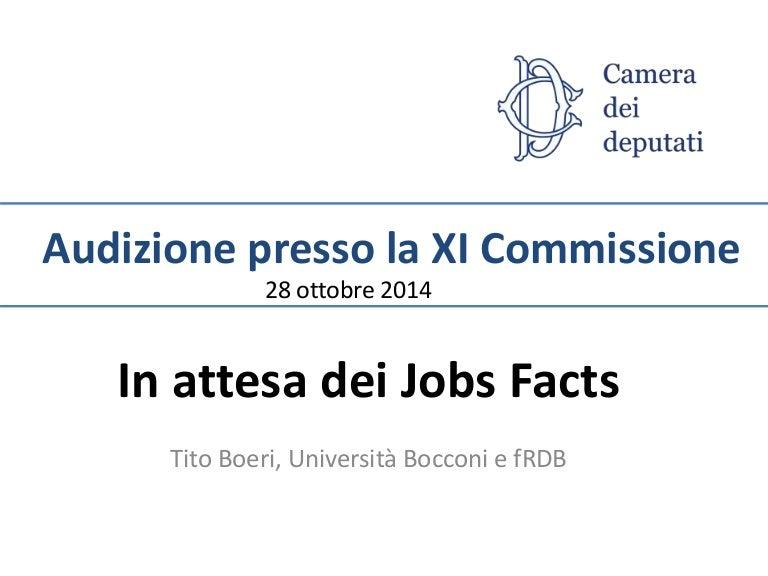 Tito boeri audizione commissione lavoro for Commissione lavoro camera