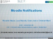 Presentazione  moodle notification_moodlemoot2011_trieste