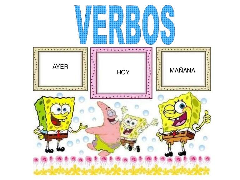 Resultado de imagen de verbos ayer hoy mañana