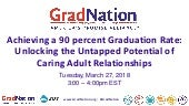 [GradNation Webinar] Achieving a 90 percent Graduation Rate: Unlocking the Untapped Potential of Caring Adult Relationships