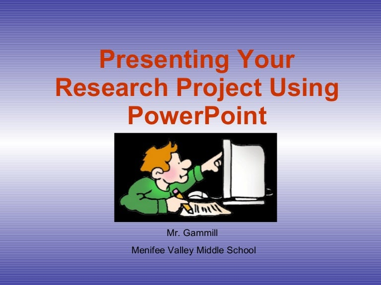 project in powerpoint