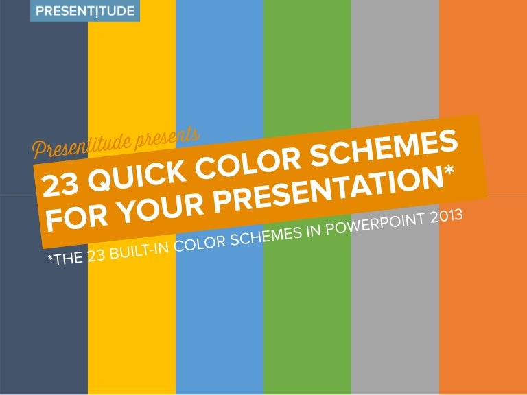 23 quick color themes for your presentation toneelgroepblik Choice Image