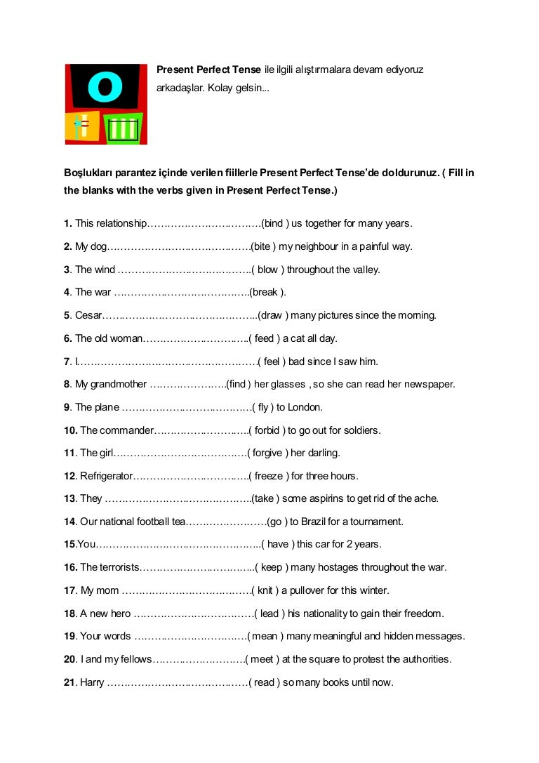Worksheets Simple Present Tense Worksheets present perfect tense exercises 2