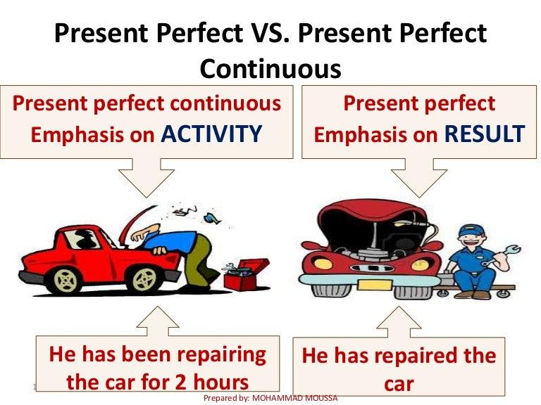 present perfect simple vs present perfect continuous exercises pdf