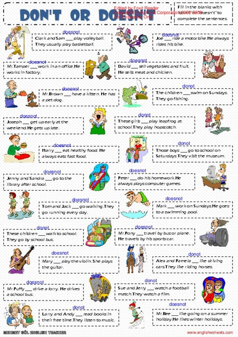 english exercises present simple pdf